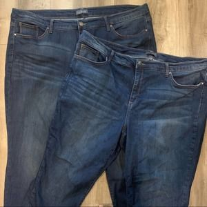 Two The Limited Skinny Ankle Jean Pants Plus Size